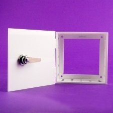 Perspex Safe BOX THERMOSTAT BLACK AND WHITE