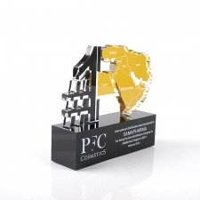 Perspex trophy PFC COSMETICS