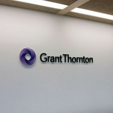 GRANT THORNTON logo perspex sign