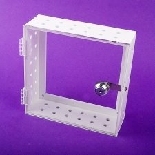 Perspex Safe Box THERMOSTAT White and transparent