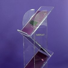 Stand Brochure Holder STAIRS - clear Methacrylate