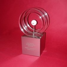 Plexiglas trophy EBN BANK