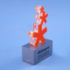 Perspex trophy DIALOGUE INTERNATIONAL