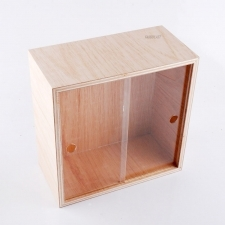 Acrylic Plexiglas and Wood Showcase Table Cover