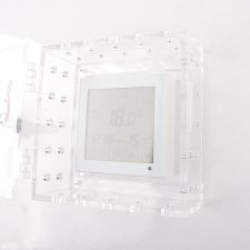 Safe-Box for thermostat with locking of clear Plexiglas