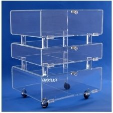 Acrylic Plexiglas Trolley TV-DVD. Model ACOPLER