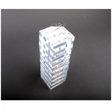 JENGA GAME ACRYLIC METHACRYLATE (PLEXIGLAS-PMMA) TRANSPARENT