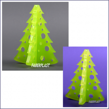 Christmas Tree Plexiglas (methacrylate - Pmma)