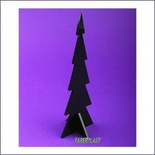 Acrylic Plexiglas Black Christmas Tree