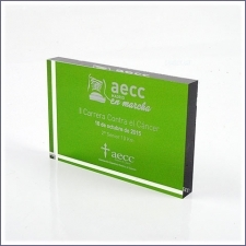 Block Trophy Methacrylate Aecc 2015