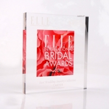 Perspex Block Trophy ELLE BRIDAL AWARDS 2018