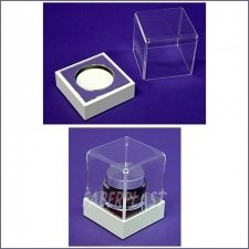 Acrylic Plexiglas Box Exhibiting Olay