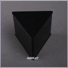 Acrylic Plexiglas Box Black Triangular