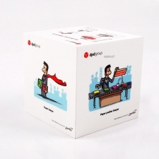 Promotional cube perspex DPD