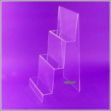 Acrylic Plexiglas Stand Display 3 Stairs