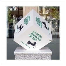 Acrylic Plexiglas Display Lloyds Bank