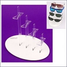 Acrylic Plexiglas Display Exhibitor 4 Glasses