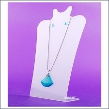 Acrylic Plexiglas Display Necklace and Earrings