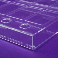 Acrylic perspex display product DERMACOL