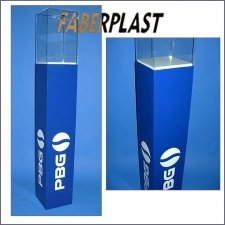 Display Case Pillar Methacrylate-plexiglas Pepsi