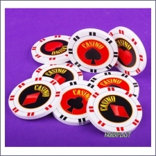 Acrylic Poker Chips Digital Direct Print