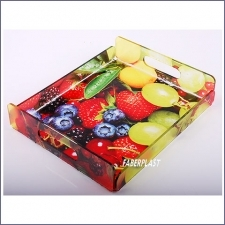 Acrylic Plexiglas Tray Fruits Digital Printing