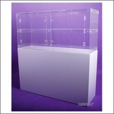 Acrylic Plexiglas Showcase White Large