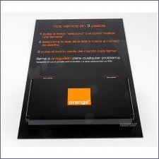 Acrylic Plexiglas Brochure Holder Orange