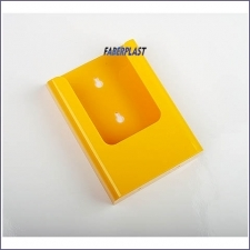 Brochure Holder Acrilic Yellow 1/3 A4 Wall
