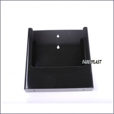 Brochure Holder Acrylic Black A4 Wall