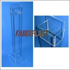 Acrylic Plexiglas Brochure Holder Tower