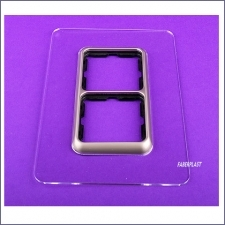 Acrylic Plexiglas Plate Light Switches Double