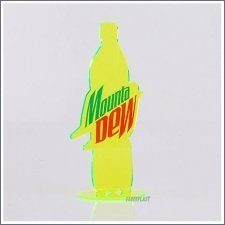 Acrylic Plexiglas Display Mountain Dew