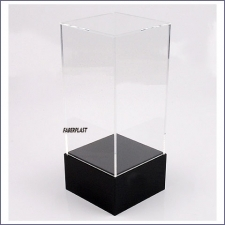 Acrylic Plexiglas Showcase Black Base