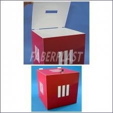 Acrylic Plexiglas Urn Events Red and White
