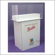 Acrylic Plexiglas Showcase Barbies